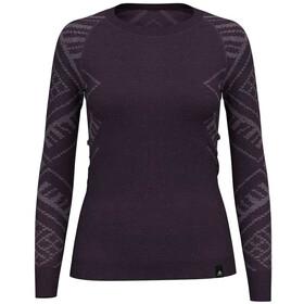 Odlo Suw Natural + Kinship LS Top Crew Neck Damen vintage violet melange